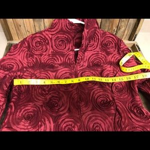 Samuel Dong Jackets & Coats - Samuel Dong red wine 3D concentric circle fit M